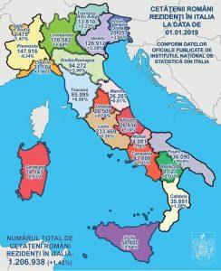 harta italia - coronavirus