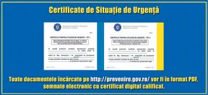 certificat stare de urgenta